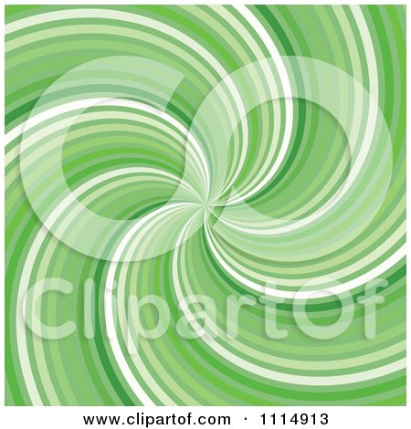 Clipart Retro Green Swirl Background - Royalty Free Vector Illustration by dero