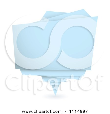 Clipart Pastel Blue Origami Paper Banner - Royalty Free Vector Illustration by michaeltravers