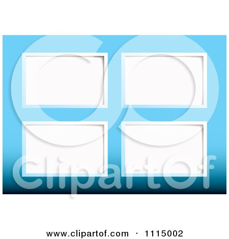 Clipart White Paper Tags On Blue - Royalty Free Vector Illustration by michaeltravers