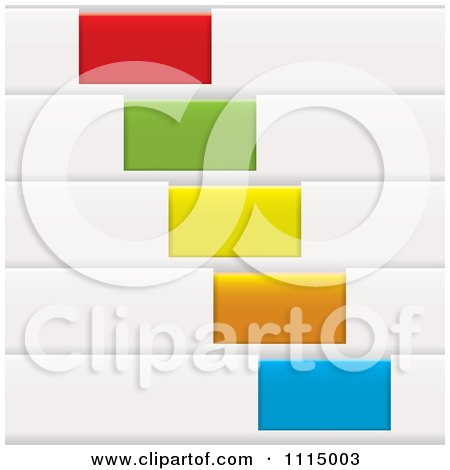 Clipart White Sales Tags With Colorful Slots - Royalty Free Vector Illustration by michaeltravers