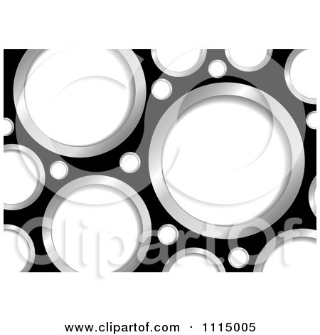 Clipart Black Background With White And Chrome Holes - Royalty Free Vector Illustration by michaeltravers