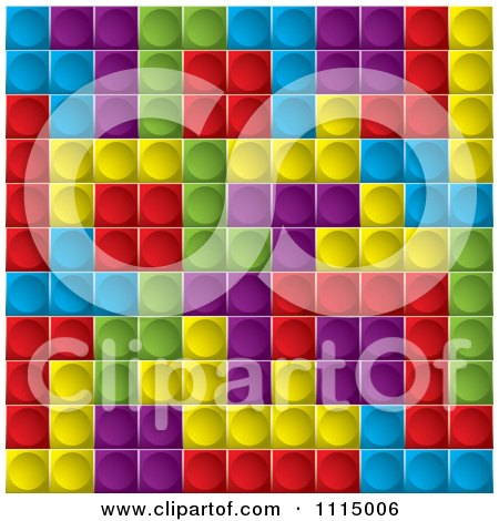 Clipart Background Of Tetris Cubes - Royalty Free Vector Illustration by michaeltravers