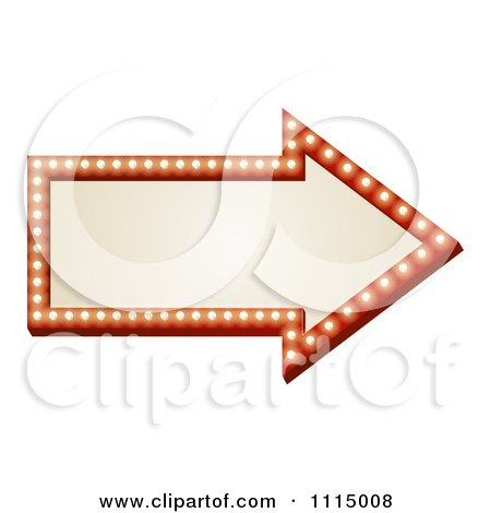 Clipart Illuminated Arrow Sign - Royalty Free Vector Illustration by AtStockIllustration