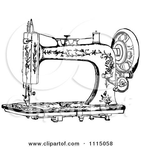 White Sewing Machine Clip Art