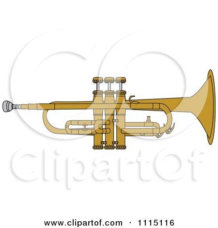 Clipart Brass Trumpet - Royalty Free Vector Illustration by djart