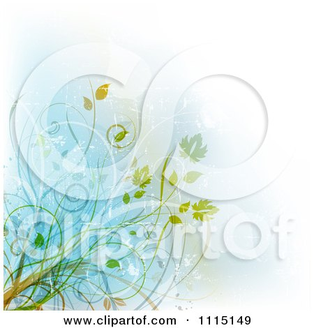 Clipart Grungy Vine Background - Royalty Free Vector Illustration by KJ Pargeter