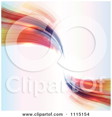Clipart Abstract Futuristic Waves With Copyspace - Royalty Free Vector Illustration by KJ Pargeter