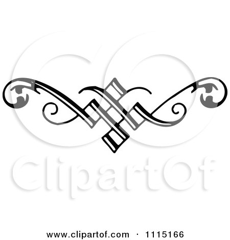 Clipart Vintage Black And White Book Page Design Element 3 - Royalty Free Vector Illustration by Prawny Vintage