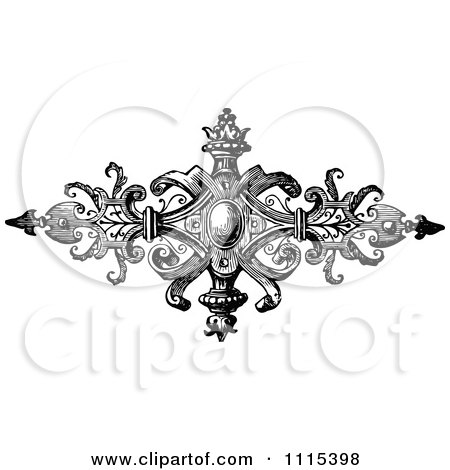 Clipart Vintage Black And White Book Page Design Element 6 - Royalty Free Vector Illustration by Prawny Vintage