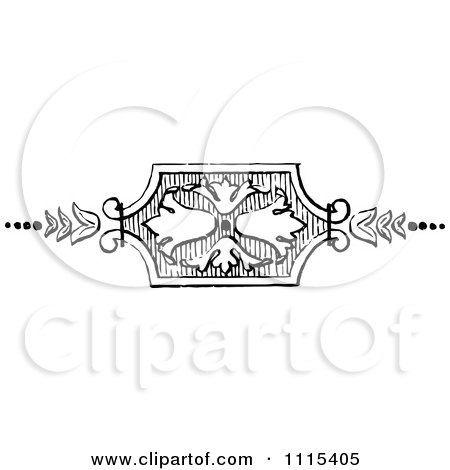Clipart Vintage Black And White Book Page Design Element 2 - Royalty Free Vector Illustration by Prawny Vintage