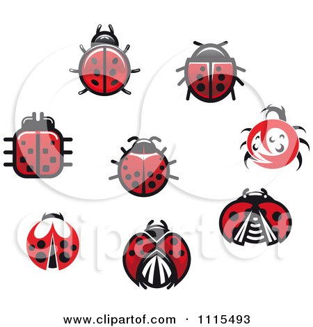 Clipart Spotted Ladybug Beetles - Royalty Free Vector Illustration by Vector Tradition SM