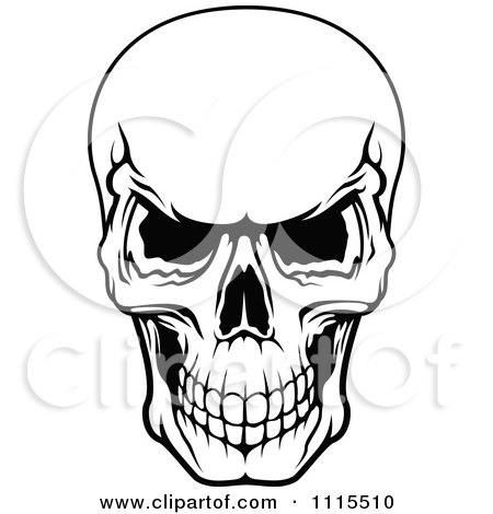 Scary Skull Coloring Page Twisty Noodle Pictures