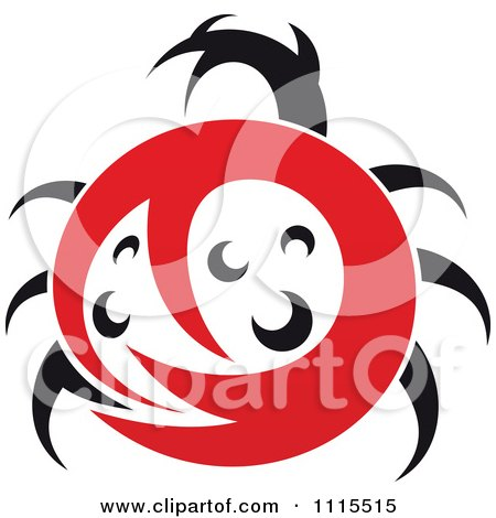 Clipart Abstract Spotted Ladybug Beetle - Royalty Free Vector Illustration by Vector Tradition SM