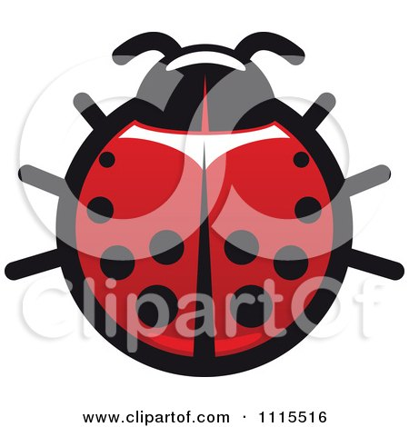 Clipart Spotted Ladybug Beetle 5 - Royalty Free Vector Illustration by Vector Tradition SM