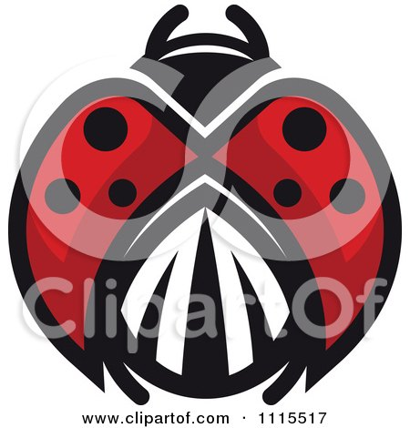 Clipart Spotted Ladybug Beetle 6 - Royalty Free Vector Illustration by Vector Tradition SM