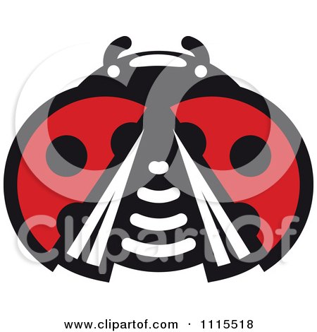 Clipart Spotted Ladybug Beetle 7 - Royalty Free Vector Illustration by Vector Tradition SM