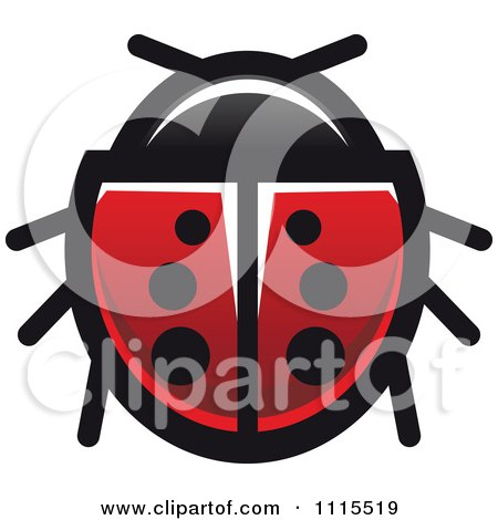 Clipart Spotted Ladybug Beetle 2 - Royalty Free Vector Illustration by Vector Tradition SM