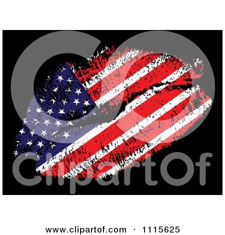 American Flag Kiss Posters, Art Prints