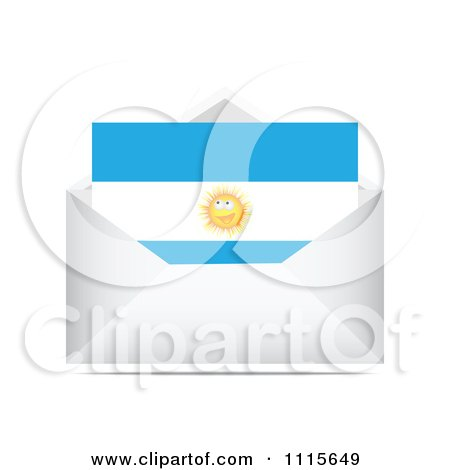 Clipart Argentina Letter In An Envelope - Royalty Free Vector Illustration by Andrei Marincas