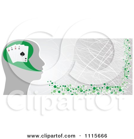 Clipart Poker Head Banner - Royalty Free Vector Illustration by Andrei Marincas