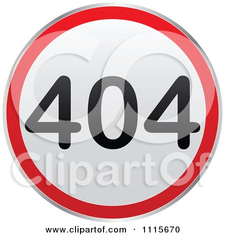 Clipart Round 404 Computer Error Notice - Royalty Free Vector Illustration by Andrei Marincas