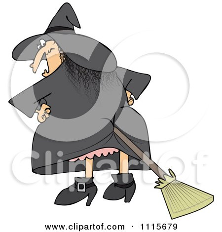 Royalty Free Vector Images on Royalty Free  Rf  Broom Up Butt Clipart   Illustrations  1