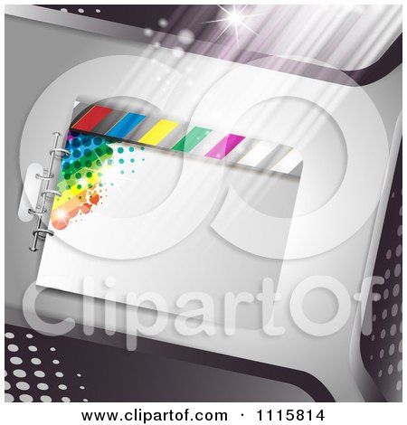 Clipart Film Frame Background With Light 2 - Royalty Free Vector Illustration by merlinul