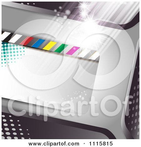 Clipart Film Frame Background With Light 1 - Royalty Free Vector Illustration by merlinul