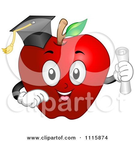 Graduate Apple With A Cap And Diploma Posters, Art Prints
