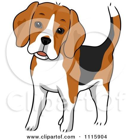 Clipart Cute Beagle Dog - Royalty Free Vector Illustration by BNP Design Studio