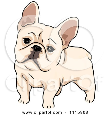 Clipart Cute French Bulldog - Royalty Free Vector Illustration by BNP Design Studio