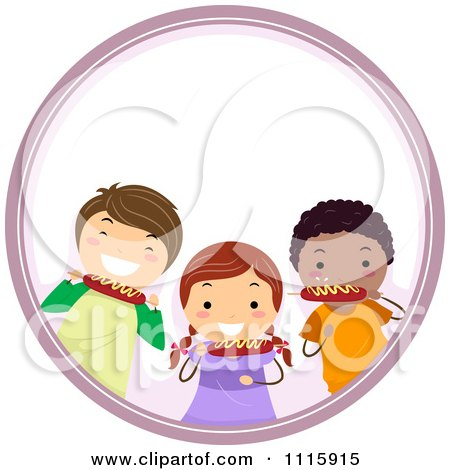 ... Free Download Clip Art Of A Family Five Sitting With Their Dog Eating