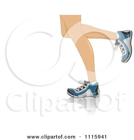 Clipart The Legs Of Running Woman - Royalty Free Vector Illustration by BNP Design Studio