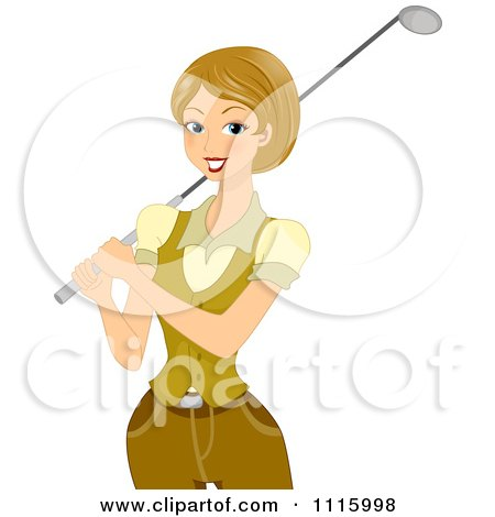 Royalty Free Rf Woman Golfing Clipart Illustrations