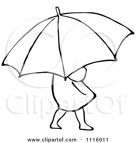 Umbrella Clipart Black And White Clipart Vintage...