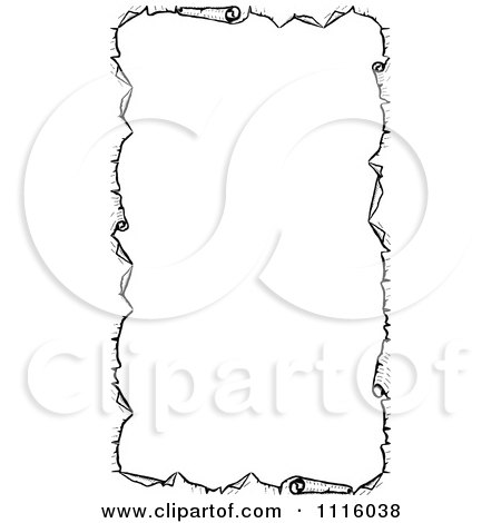 Parchment Paper With Writing Parchment Paper Border