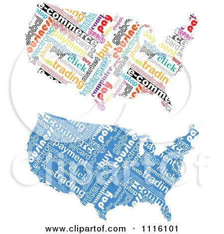 Clipart Commerce Word Collage American Maps - Royalty Free Vector Illustration by Andrei Marincas
