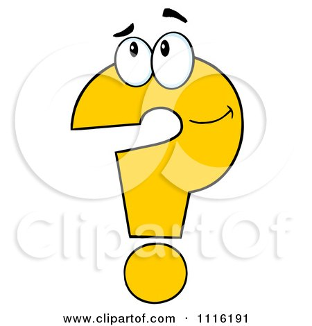 Clipart Thinking Yellow Question Mark - Royalty Free Vector Illustration by Hit Toon