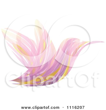 Clipart Abstract Purple Hummingbird - Royalty Free Vector Illustration by elena