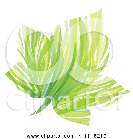 Clipart Abstract Green Maple Leaf - Royalty Free Vector Illustration by elena