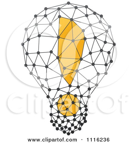 Clipart Exclamation Point Light Bulb 3 - Royalty Free Vector Illustration by elena