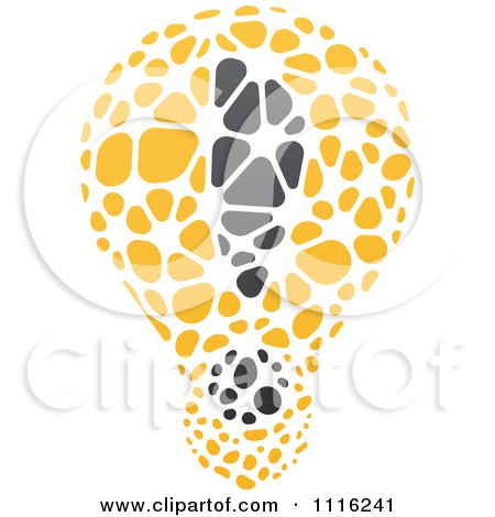 Clipart Exclamation Point Light Bulb 1 - Royalty Free Vector Illustration by elena