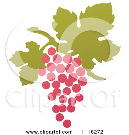 Clipart Purple Grapes And Leaves Wine Icon 11 - Royalty Free Vector Illustration by elena