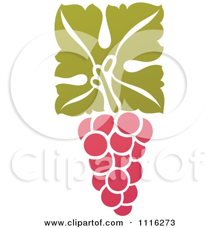 Clipart Purple Grapes And Leaves Wine Icon 12 - Royalty Free Vector Illustration by elena