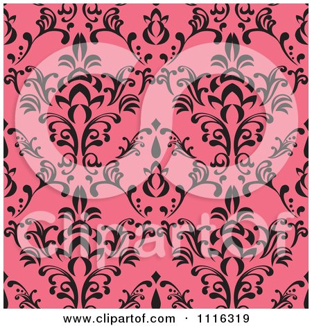 Clipart Seamless Pink And Black Pattern - Royalty Free Vector Illustration by Amanda Kate