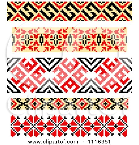 Clipart Native American Style Borders 2 - Royalty Free Vector Illustration by Vector Tradition SM