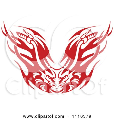 Clipart Red And Black And White Demons With Flames - Royalty Free ...