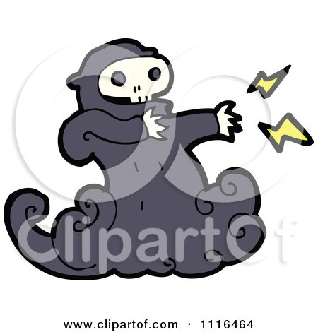 Clipart Halloween Spook Skull Ghost 1 - Royalty Free Vector Illustration by lineartestpilot