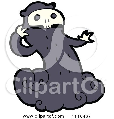 Clipart Halloween Spook Skull Ghost 3 - Royalty Free Vector Illustration by lineartestpilot