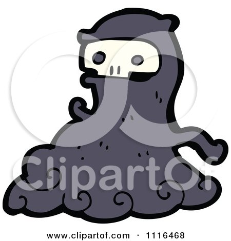 Clipart Halloween Spook Skull Ghost 4 - Royalty Free Vector Illustration by lineartestpilot
